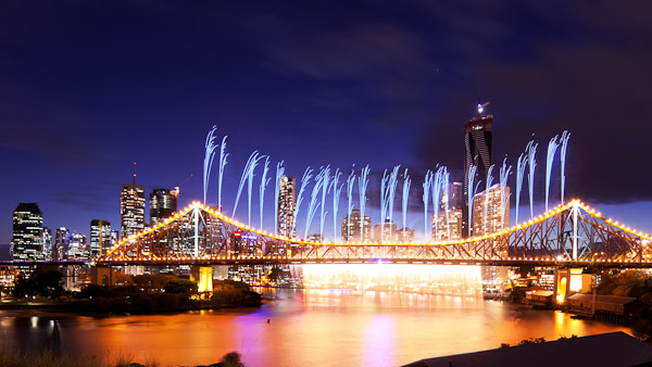 The iconic Riverfire Falls